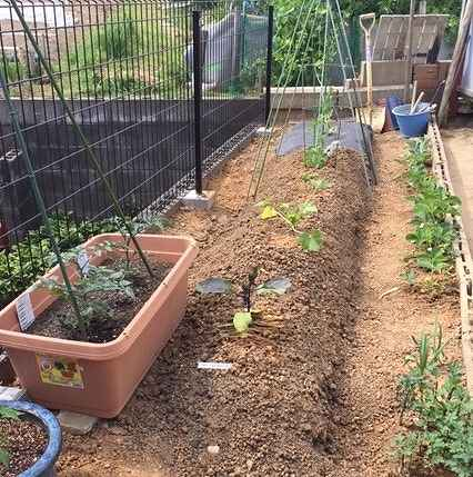 庭の畑の囲いをコンクリートブックでDIYできる